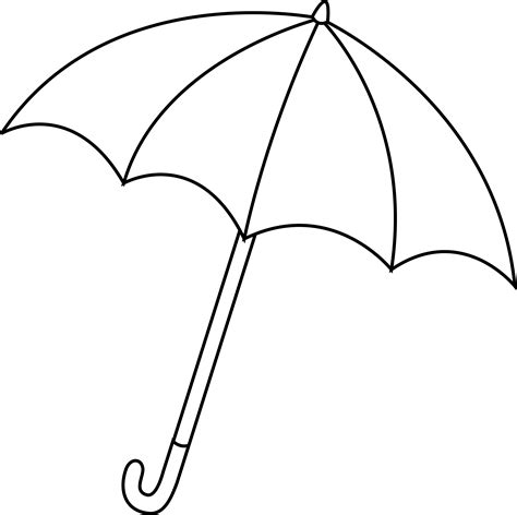 rainboots for free coloring pages of umbrella line draw