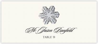 Snowflake Place Cards Assortment Winter Escort Card