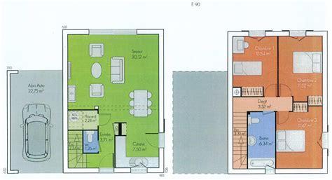 plan maison etage 4 chambres plan maison etage 2 chambres plan maison 2 chambres 70 m2