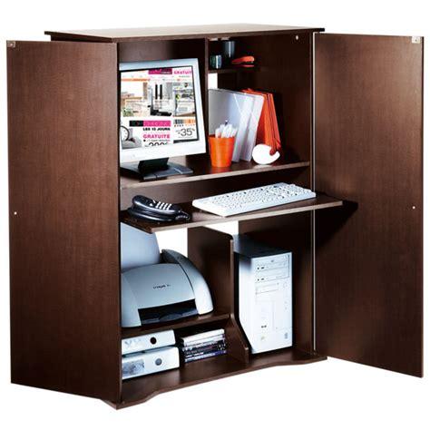 bureau dans une armoire armoire bureau gigaoctet wengé anniversaire 40 ans