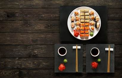 Sushi Japanese Wasabi Sauce Sticks Ginger Rolls