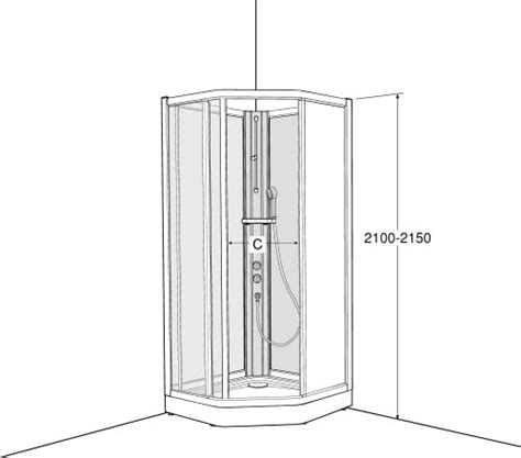 koep ifoe solid skp duschkabin xcm screentryckt glas