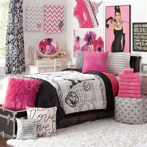 create paris bedroom decor  girls  chic style