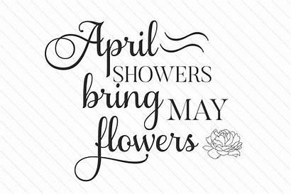 Showers April Flowers Bring Spring Craft Crafts