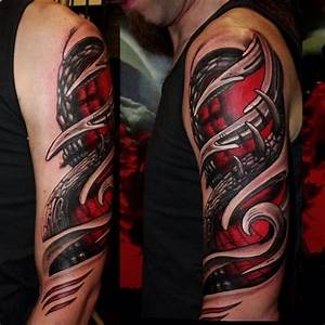 Adler Tattoo Oberarm : farbiges oberarm tattoo 3d t towierung am arm tattoos pinterest tattoo ~ Frokenaadalensverden.com Haus und Dekorationen