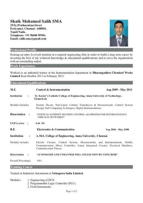sle resume for freshers engineers download instrument