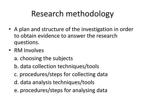 Some advisors don't realize this and need students to create. PPT - Research methodology PowerPoint Presentation, free ...