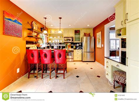 Cozy Kitchen Warm Colors by Warm Colors Cozy Kitchen Room Stock Image Image Of