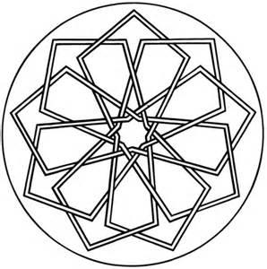 Simple Geometric Mandala Coloring Pages
