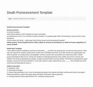 Death note template 5 free word pdf format download for Death summary template