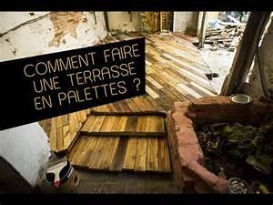 Comment Faire Une Bibliothèque : comment faire une terrasse de jardin en palettes diy youtube ~ Dode.kayakingforconservation.com Idées de Décoration