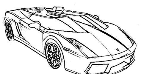sketsa gambar mewarnai mobil balap hitam putih paud tk sd