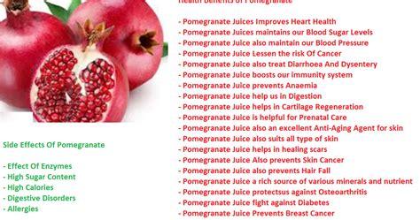 pintoos kitchen  side effect  pomegranate fruit