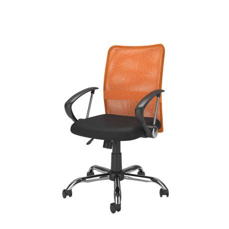 Desk Chairs Walmart Canada by Corliving Workspace Contoured Orange Mesh Back Office