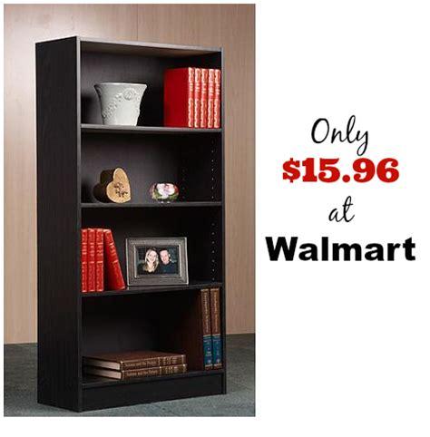 bookshelf in walmart walmart 4 shelf bookcase only 15 96 reg 25