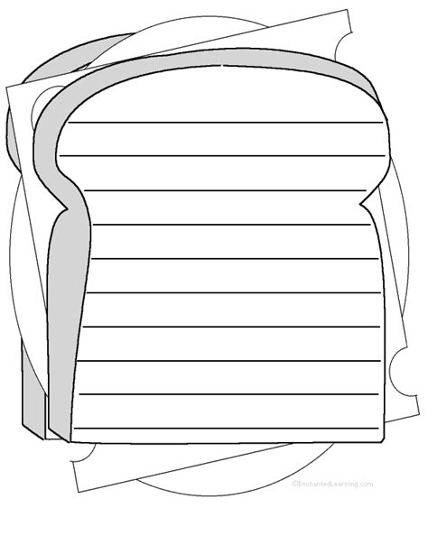 sandwich shape poem printable worksheet