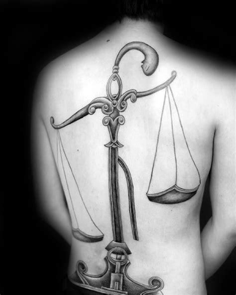 60 Libra Tattoos For Men - Balanced Scale Ink Design Ideas