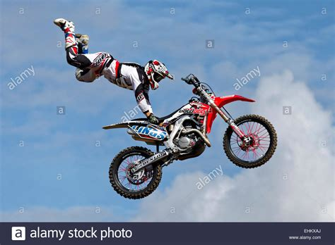 freestyle motocross riders a member of the bolddog lings freestyle motocross display