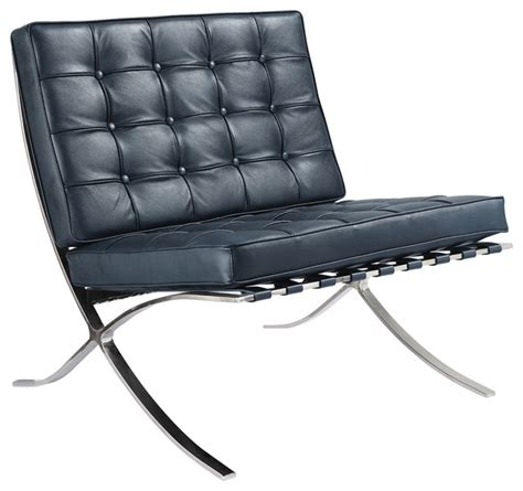 navy blue italian leather lounge chair contemporary