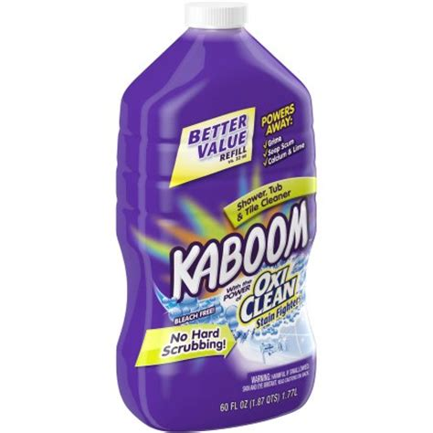 kaboom bathroom cleaner with kaboom shower tub tile cleaner refill 60 fl oz