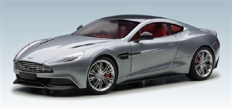 highly detailed autoart diecast model silver aston martin
