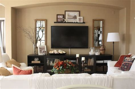 Decorating Ideas For Living Room With Tv by Decorating Around A Tv Console Decorating Around A Wall