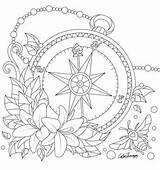 Coloring Compass Adult Adults Desenhos Printable Pattern Mandala Tattoo Drawing Problems Sheets Colorear Colouring Carnaval Math Flower Mandalas Worksheets Creative sketch template
