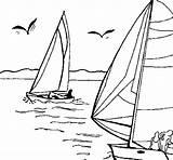 Coloring Sea Sails Coloringcrew sketch template