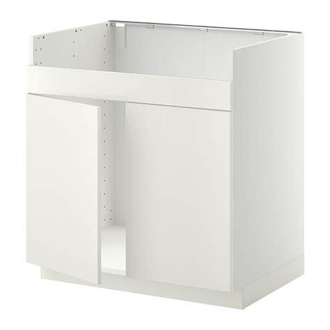 metod base cab f domsj 214 double bowl sink white veddinge