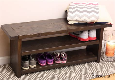 storage bench   shelves wood bench shoe storage