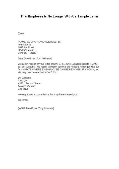 no longer employed letter the letter sle