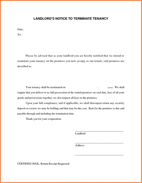 19 Luxury Terminate Lease Agreement Letter Sample Pictures