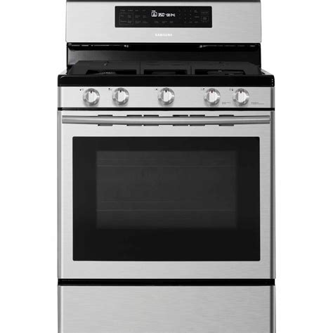 Kitchen Ideas With Stainless Steel Appliances - samsung nx58h5600ss 5 8 cu ft gas range with 5 burner cooktop stainless steel