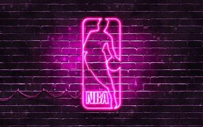Basketball Nba Purple Neon 4k National Association