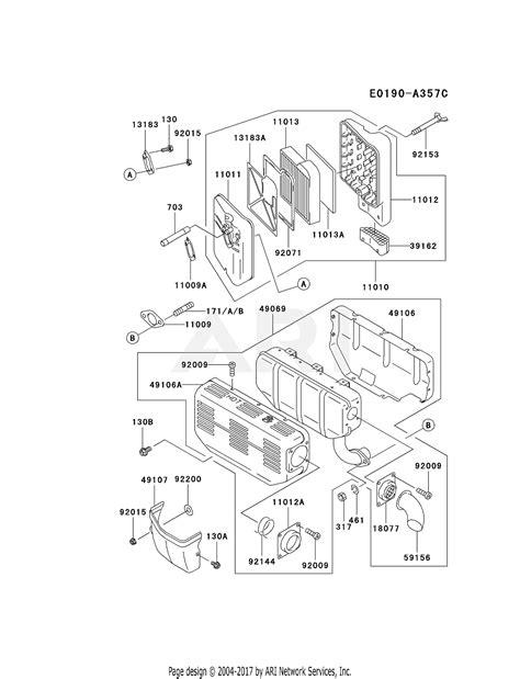Filter Diagram by Kawasaki Fe290d Cs22 4 Stroke Engine Fe290d Parts Diagram