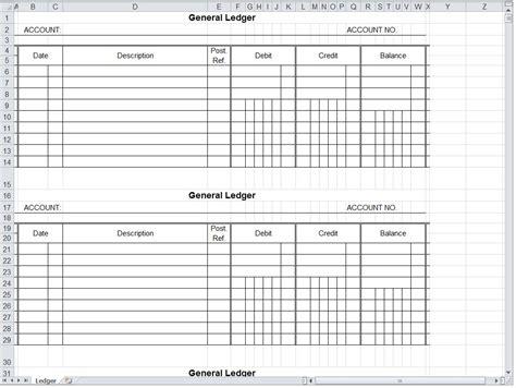 general ledger spreadsheet general ledger excel template