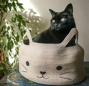 Panier Pour Chat Original : diy animaux comment fabriquer un lit pour chat original et d co ~ Teatrodelosmanantiales.com Idées de Décoration