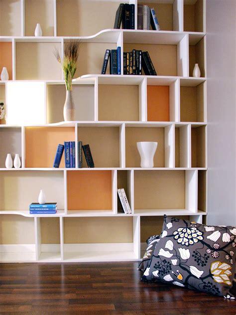 Black Wooden Wall Shelves For Books In Ladder Shaped