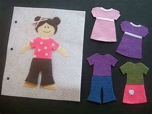 serving pink lemonade quiet book With felt dress up doll template
