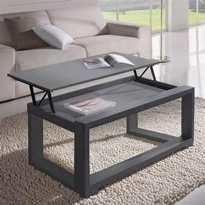 Table Basse Grise Pas Cher : table salon relevable ~ Teatrodelosmanantiales.com Idées de Décoration
