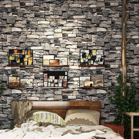 retro simulation brick  wallpaper restaurant bar