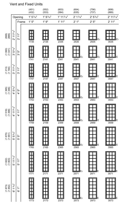 casement window sizes chart  home plans design