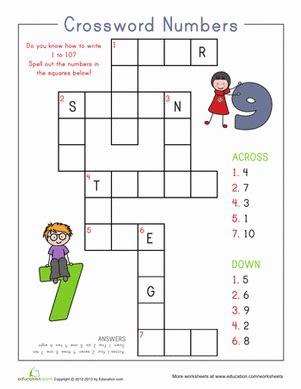 number crossword worksheet education 451   number crossword counting numbers writing