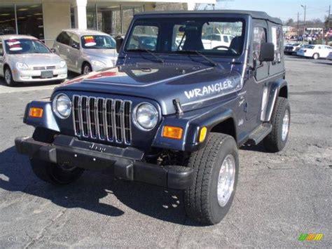 2001 steel blue pearl jeep wrangler sport 4x4 12683937 photo 2 gtcarlot car color