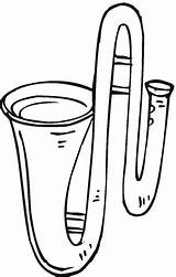 Trombone Coloring Instruments Musical Pages Printable Coloringpages101 Supercoloring Results Categories sketch template
