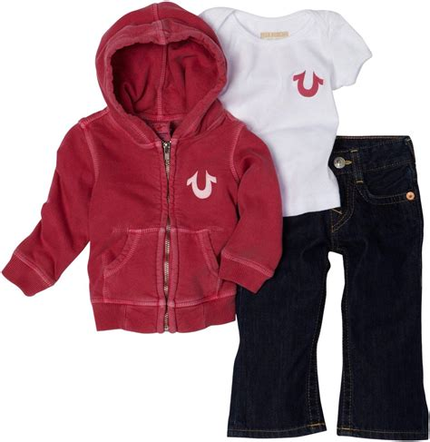 (Discounted) True Religion Unisex Baby Infant Baby 3 Piece Gift Box Set