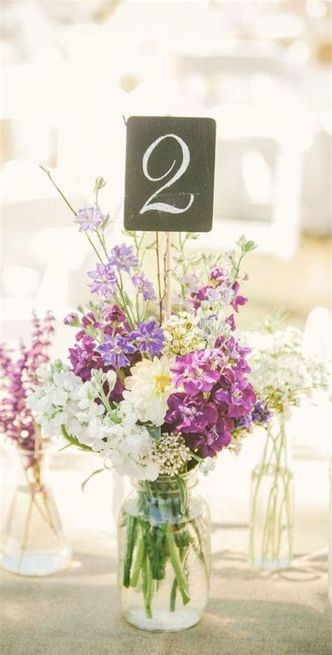 diy floral wedding table number centerpiece cristina