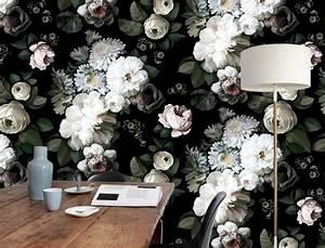 Papier Peint Fleuri : papierpeint9 papiers peints tendance ~ Premium-room.com Idées de Décoration