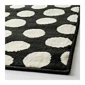 Teppich Schwarz Weiß : ikea teppich hampen schwarz ~ Markanthonyermac.com Haus und Dekorationen