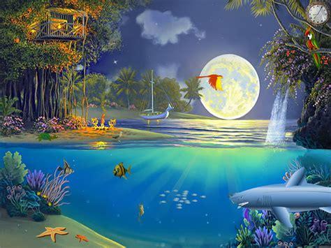 tropical aquaworld tropical screensaver